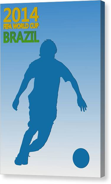 Keeper Canvas Print - Messi Argentina World Cup by Joe Hamilton