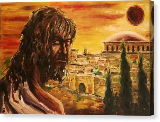 Messiah In Jerusalem Canvas Print by George Dadiani