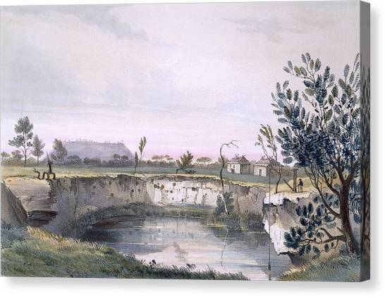 Immigration Canvas Print - Messrs Arthurs Sheep Station, With One by George French Angas