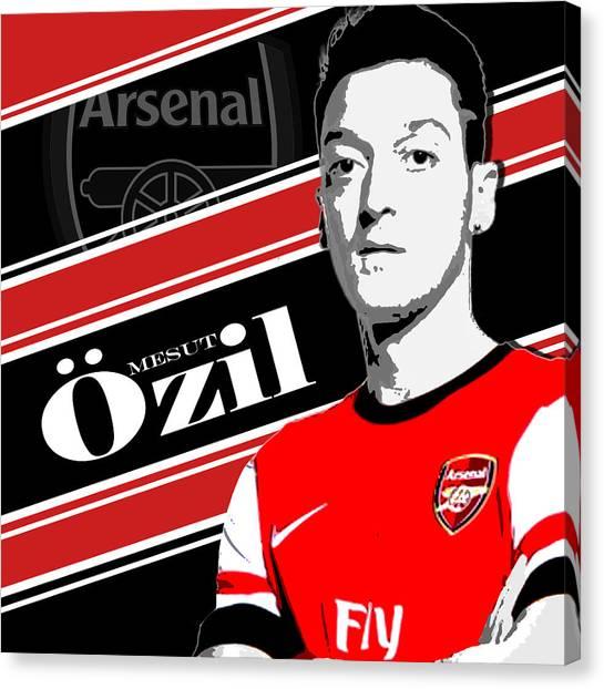 Soccer Leagues Canvas Print - Mesut Ozil Arsenal Print by Pro Prints