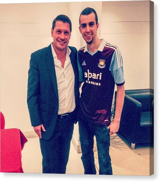 Hammers Canvas Print - Met #tonycottee Tonight!! by Mike Hayford