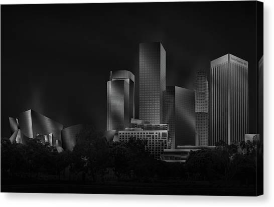 Skyscrapers Canvas Print - Metal Downtown L.a. by Jose Antonio Parejo