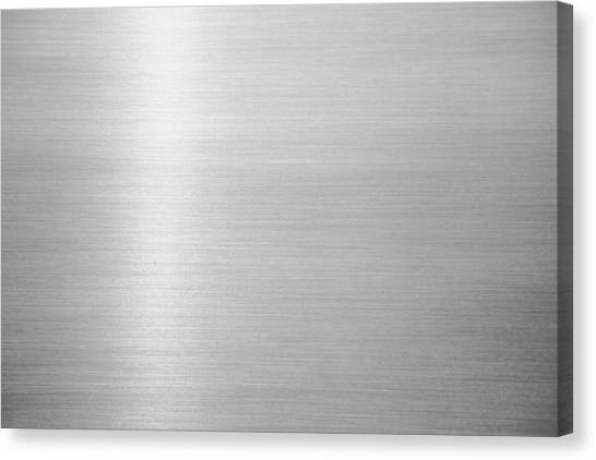 Metal Hairline Texture Background Canvas Print by Katsumi Murouchi