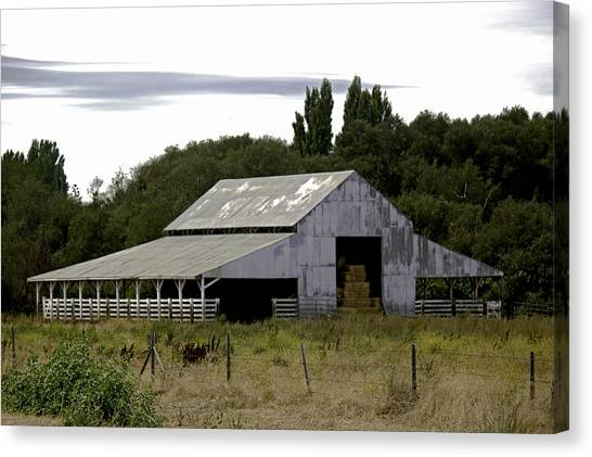 Metal Hay Barn Canvas Print