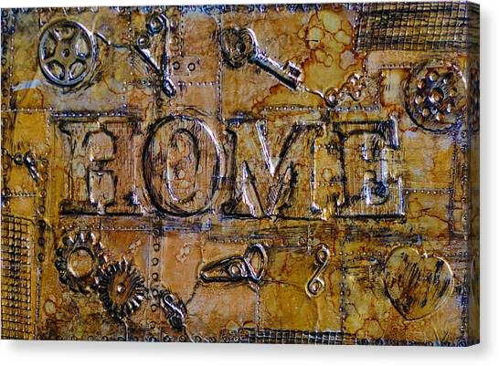 Metal Home Canvas Print by Kenneth Feliciano