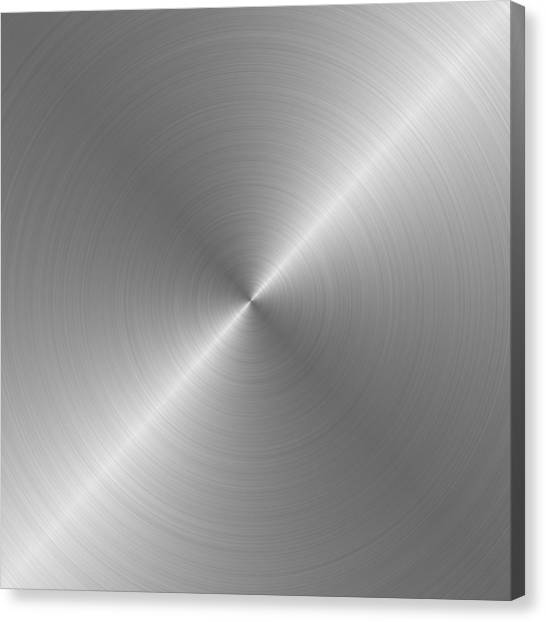Metal Rough Circular Brushed Steel Aluminum Texture 1 Canvas Print by REDlightIMAGE