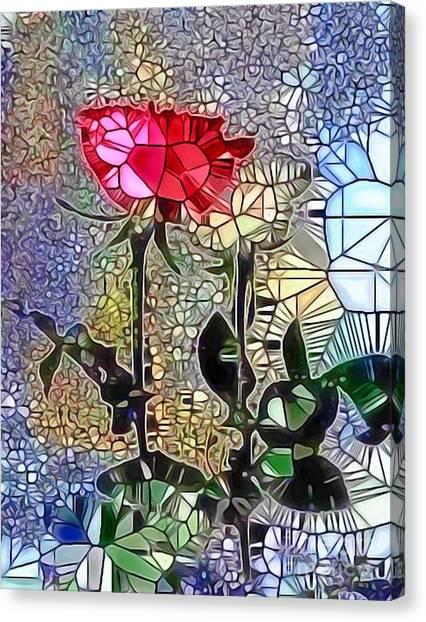 Metalic Rose Canvas Print