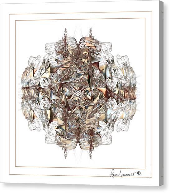 Metallic On White Canvas Print