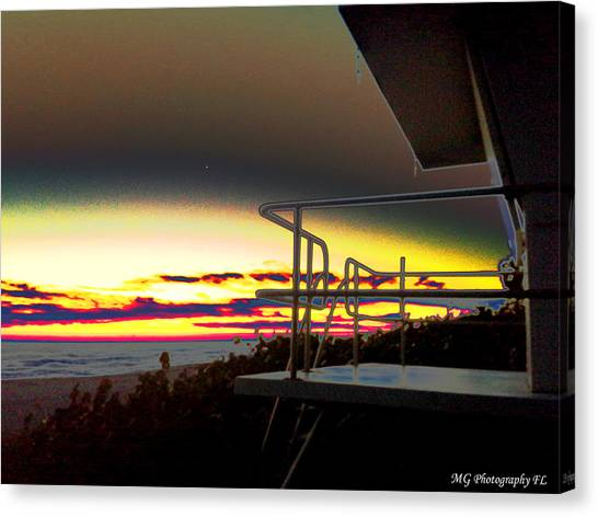 Metallic Sunrise Canvas Print