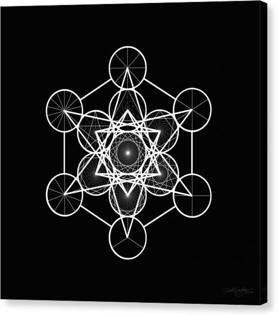 Metatron Wheel Cube Canvas Print