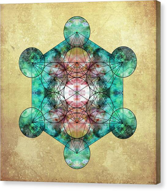 Hinduism Canvas Print - Metatron's Cube by Filippo B