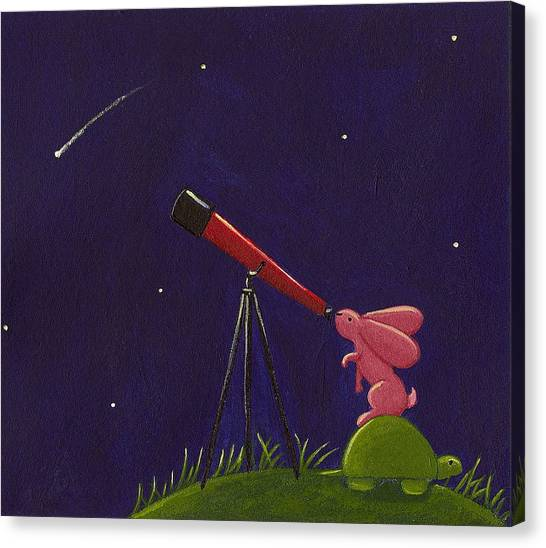 Shooting Stars Canvas Print - Meteor Shower by Christy Beckwith