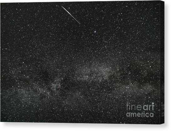 Meteor With The Milky Way Canvas Print