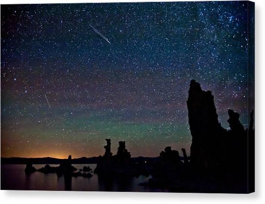 Meteors Over Mono Lake Canvas Print