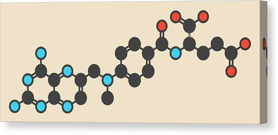 Abortion Canvas Print - Methotrexate Cancer Drug Molecule by Molekuul