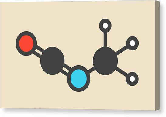 Methyl Isocyanate Toxic Molecule Canvas Print by Molekuul