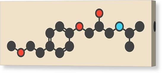 Metoprolol High Pressure Drug Molecule Canvas Print by Molekuul