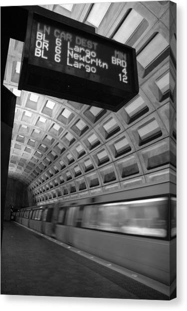 Metro Blur Canvas Print by Bryan Knowles