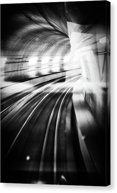 Tunnels Canvas Print - Metro Lights by Mauro Bricchetti