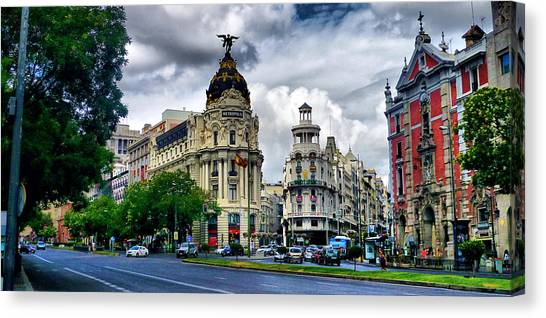Metropolis Madrid Canvas Print