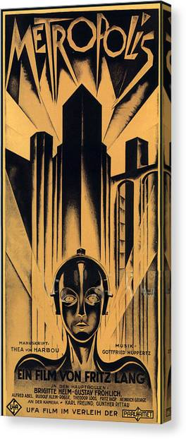 Launch Canvas Print - Metropolis Poster by Gianfranco Weiss