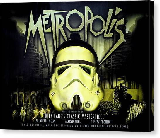 Stormtrooper Canvas Print - Metropolis by Tony Leone