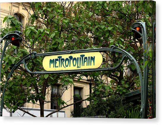 Metropolitain Canvas Print by Carrie Warlaumont
