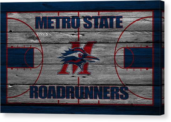 Roadrunner Canvas Print - Metropolitan State Roadrunners by Joe Hamilton
