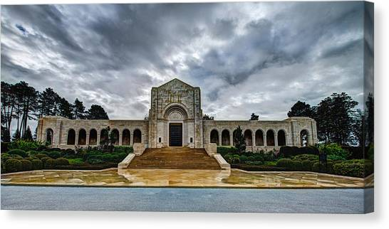 Cemetery Canvas Print - Meuse-argonne Tribute by Chad Dutson