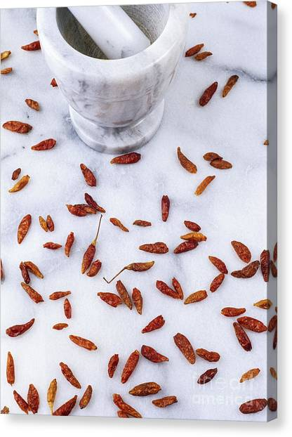 Mexican Chillies Canvas Print by Geoff Kidd