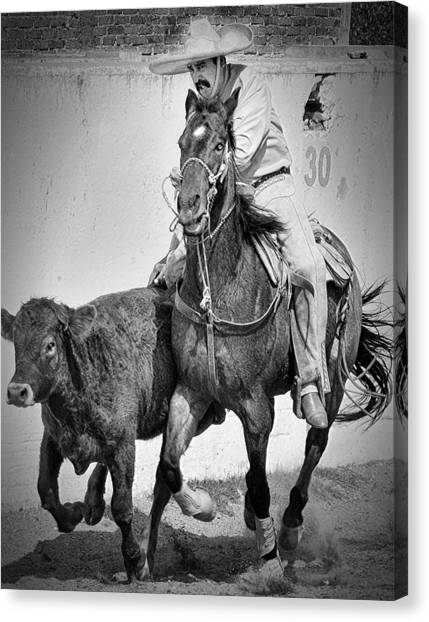 Mexican Cowboy Canvas Print