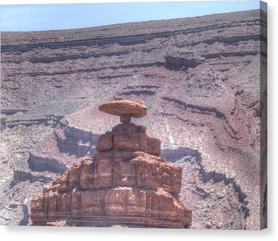 Mexican Hat Rock Canvas Print by Sanda Kateley
