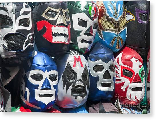 Mexican Head Masks Canvas Print