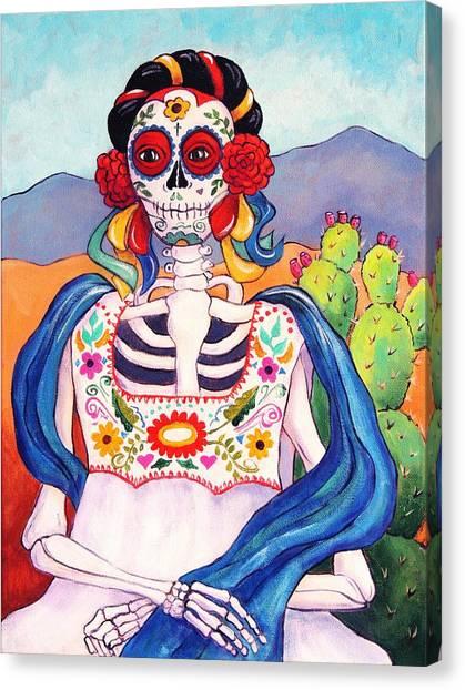 Catrina Canvas Print - Mexican Mona Lisa by Candy Mayer