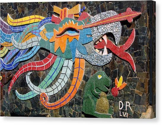 Acapulco Canvas Print - Mexican Mosaic Art by Linda Phelps