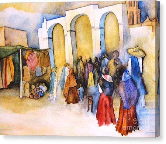 Mexican Prozession Canvas Print