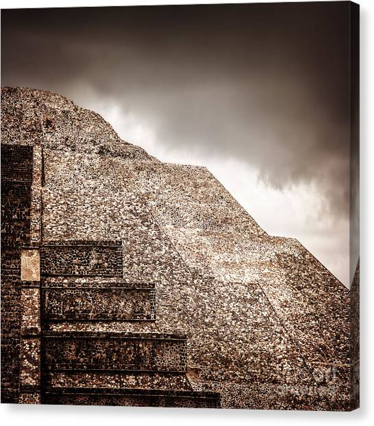 Mexican Pyramid Canvas Print
