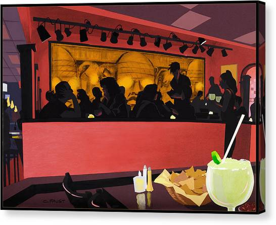 Mexican Restaurant Canvas Print