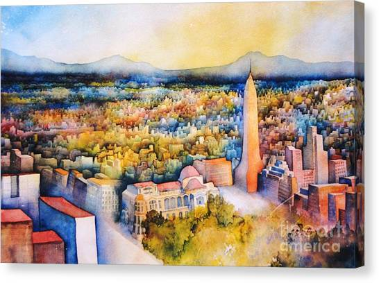 Mexico-city The Endless Town Canvas Print