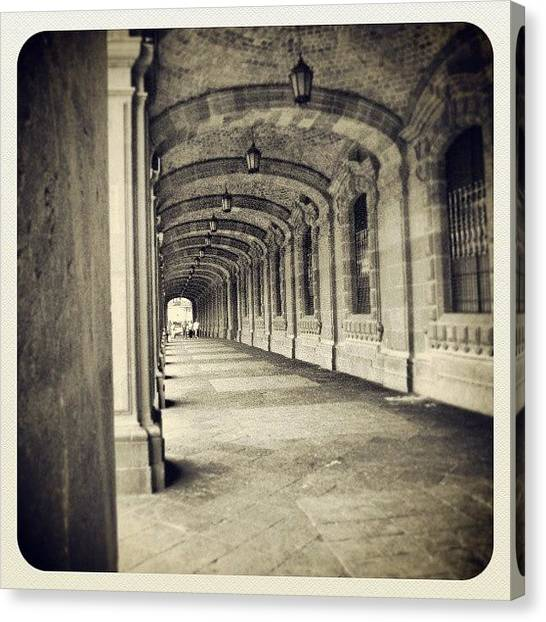Portal Canvas Print - #mexico #city #windows #doors #portal by Joe Giampaoli