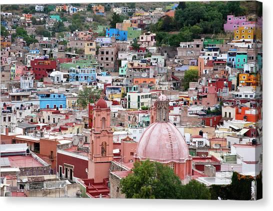Guanajuato Canvas Print - Mexico, Guanajuato, View Of Guanajuato by Hollice Looney
