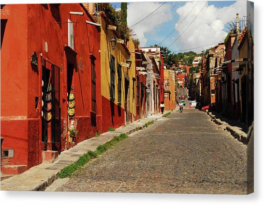 House Of Worship Canvas Print - Mexico, San Miguel De Allende, View by Anthony Asael