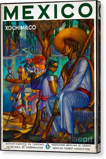 Mexico Travel Poster Canvas Print
