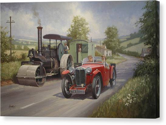 Motoring Canvas Print - Mg Sports Car. by Mike Jeffries