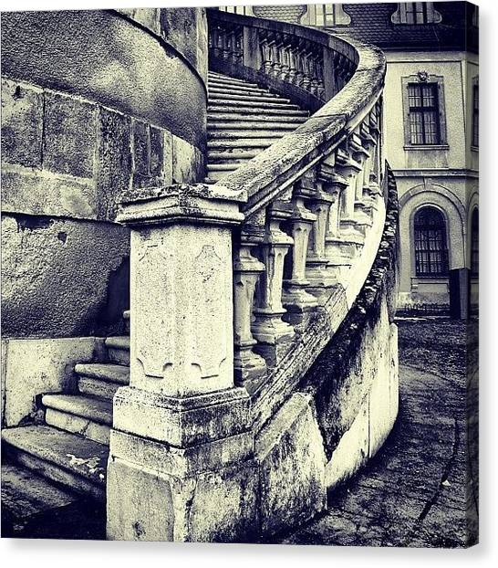 Architecture Canvas Print - #mgmarts #architecture #castle #steps by Marianna Mills
