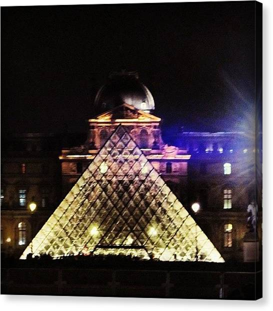 Amazing Canvas Print - #mgmarts #louvre #paris #france #europe by Marianna Mills