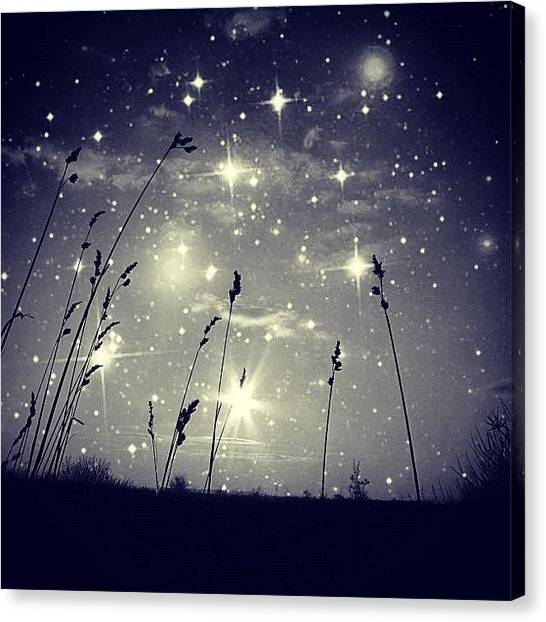 Stars Canvas Print - #mgmarts #mysky #wish #life #simple by Marianna Mills
