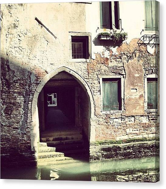 Holidays Canvas Print - #mgmarts #venice #italy #europe by Marianna Mills