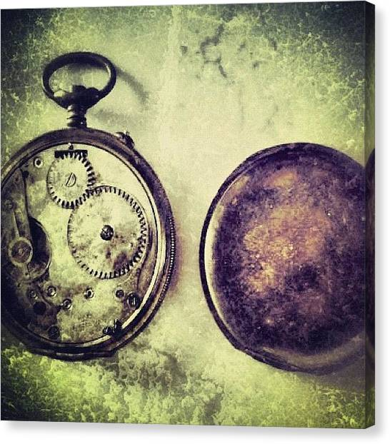 Vintage Canvas Print - #mgmarts #watch #time #bestogram by Marianna Mills