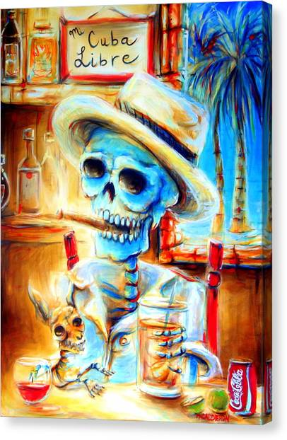 Chihuahuas Canvas Print - Mi Cuba Libre by Heather Calderon